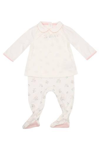 Kids Collared Printed Babysuit