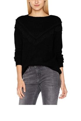 VERO MODA Womens Boat Neck Solid Sweater