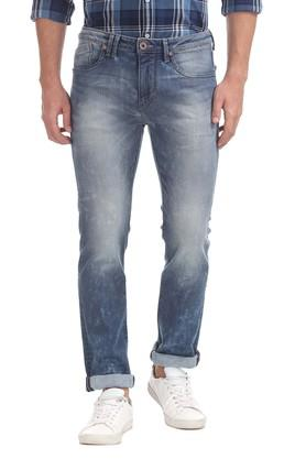 FLYING MACHINE Mens Slim Tapered Mild Wash Jeans - 203628875_9308