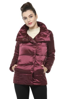 GIPSY Womens High Neck Solid Jacket