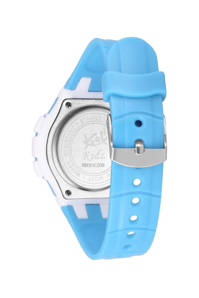Unisex Plastic Grey Dial Digital Watch - KK209BL