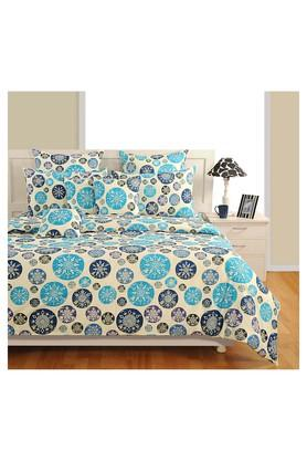 SWAYAMPrinted Double Bed Sheet, Comforter And Pillow Covers Set - 204584191_9324