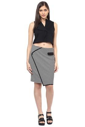 Womens Striped Casual Skirt