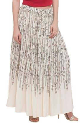 IMARA Womens Printed Long Skirt - 203699668_9101