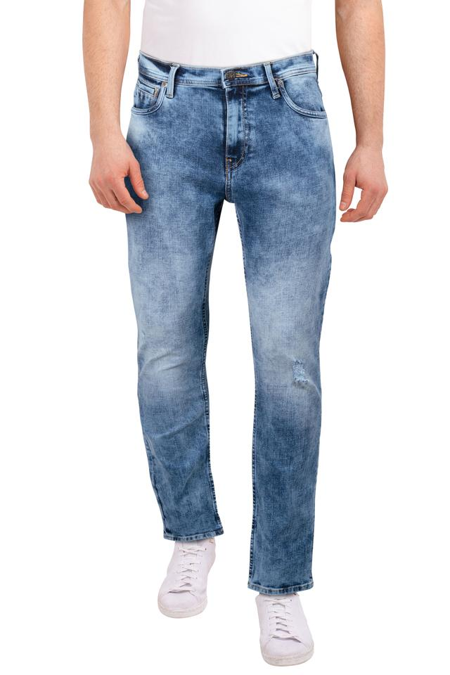 Mens 5 Pocket Heavy Wash Jeans (Bruce Fit)