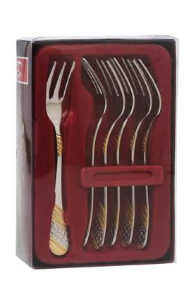 FNS Stainless Steel Fruit Fork Set Of 6
