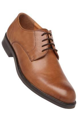 VENTURINI Mens Leather Lace Up Derbys - 204000295_9126