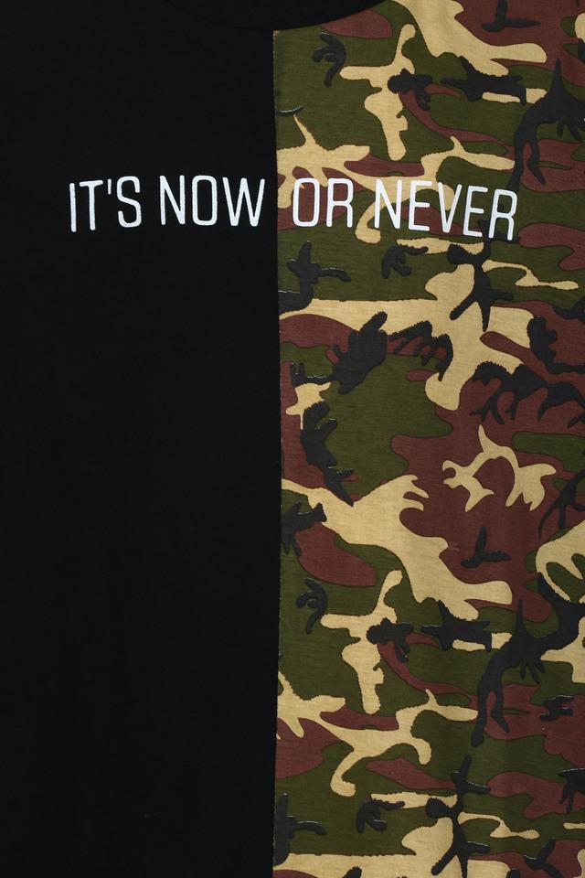 Boys Round Neck Camouflage Tee