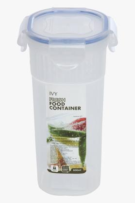 IVYPlastic Food Container With Lock Lid - 600 Ml