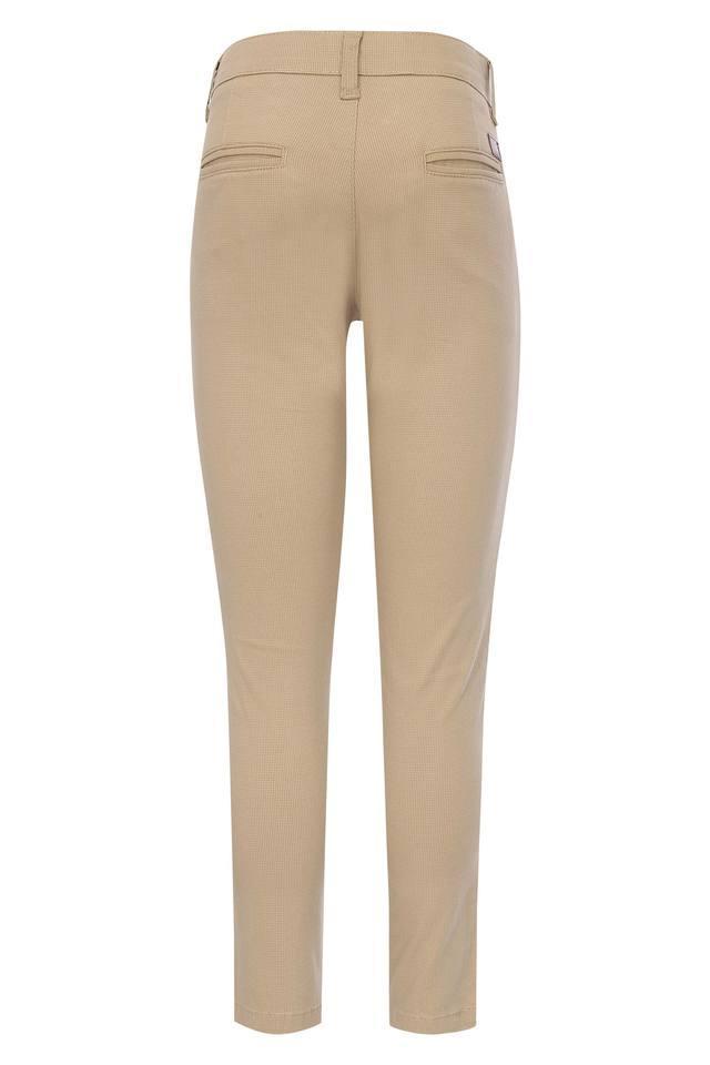 Boys 4 Pocket Solid Trouser