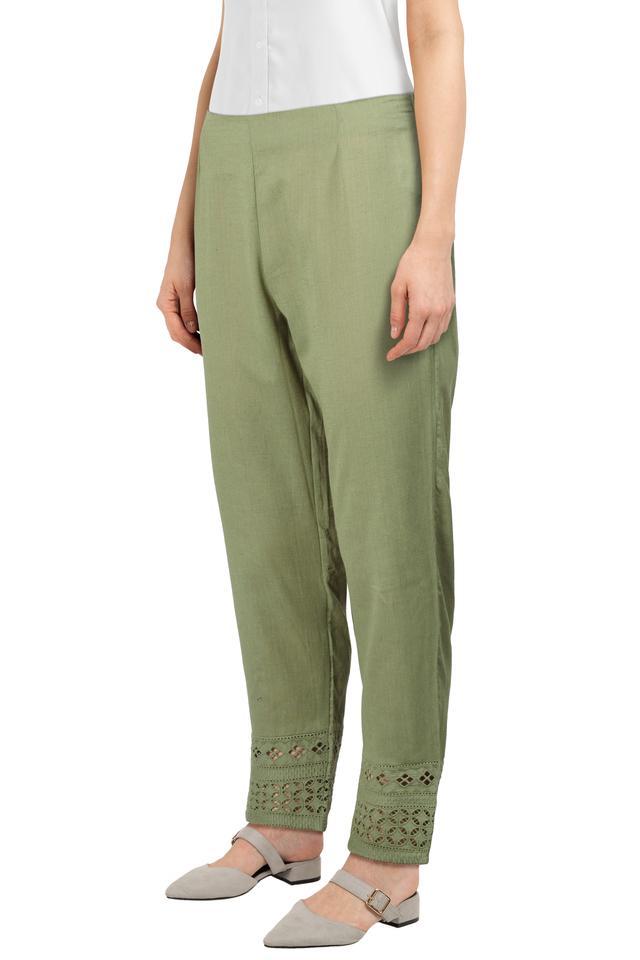 Womens Slub Casual Pants