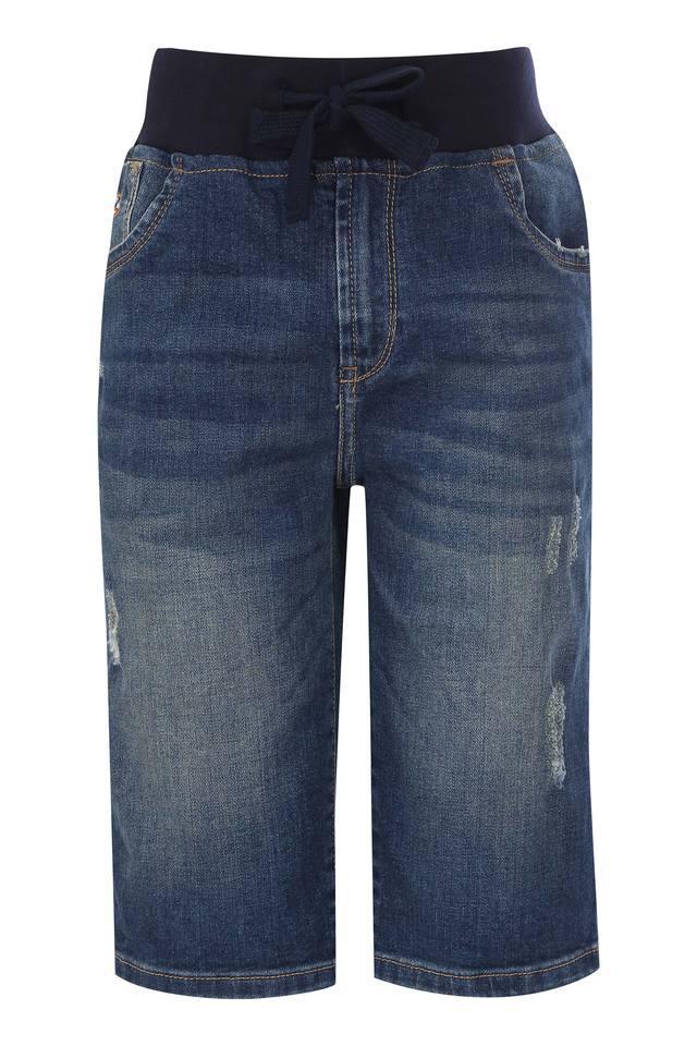 Boys Slim Fit Distressed Shorts