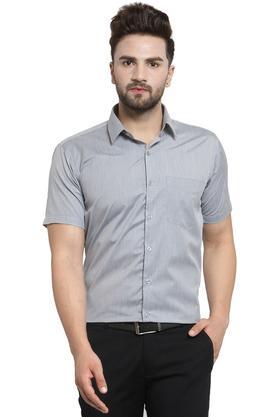 Mens Slim Fit Solid Formal Shirt