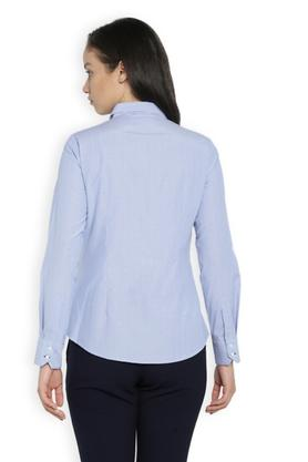 Women Collared Dot Pattern Shirt
