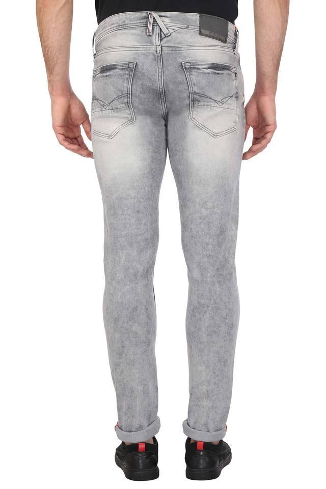 Mens Skinny Fit Distressed Jeans