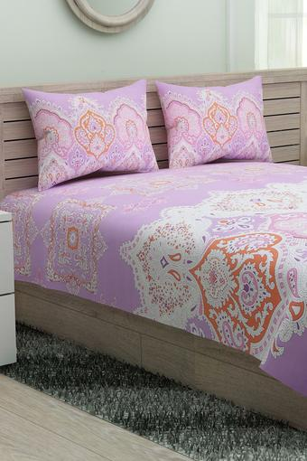 Printed Single Bed Sheet with Pillow Cover