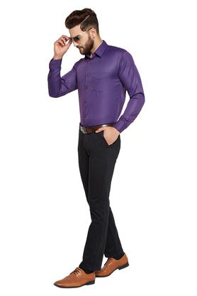 Mens Slim Fit Solid Formal Shirt