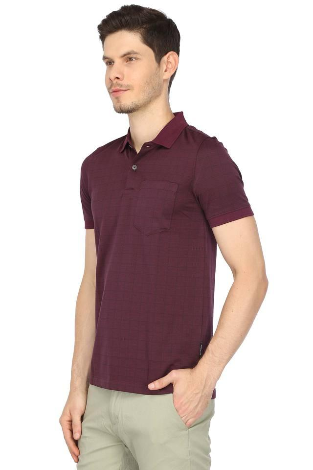 Mens Check Polo T-Shirt