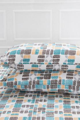 Superfine Cotton Multi Pastel Double Bedsheet with 2 Pillow Covers - 210 TC