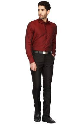 Mens 4 Pocket Self Pattern Formal Trousers