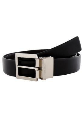 Mens Leather Buckle Closure Formal Belt