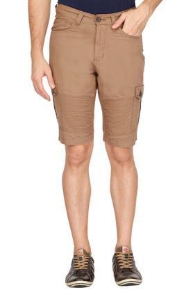 Mens 7 Pocket Solid Shorts