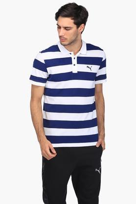 PUMAMens Stripe Polo T-Shirt