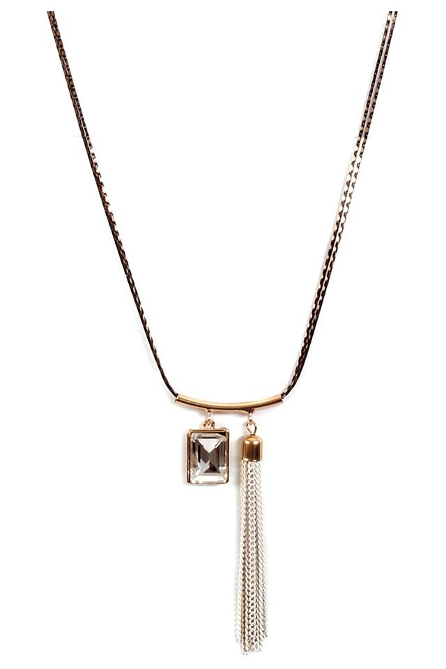 Womens White Metal Necklace