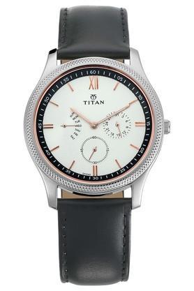 TITANMens Classique Retrogrades White Dial Multifunction Watch 1768SL02