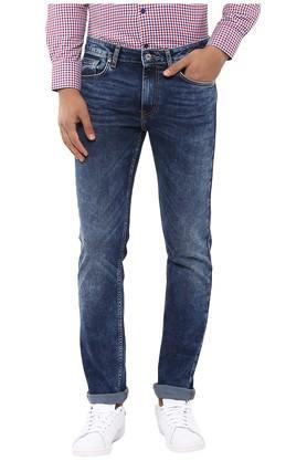 Mens Regular Fit 5 Pocket Heavy Wash Jeans