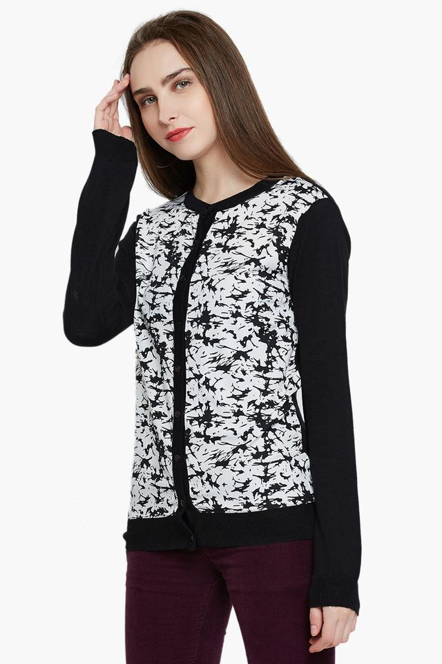 Womens Full Sleeves Printed Sweater