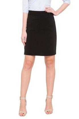ALLEN SOLLY Womens Knee Length Skirt