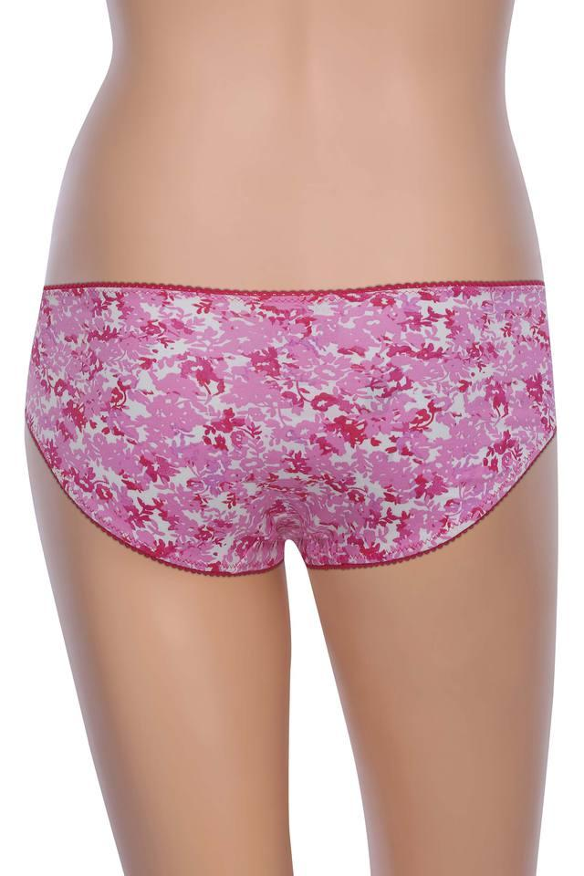 Womens Printed and Lace Hipster Briefs - Pack Of 3