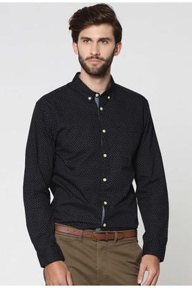 Mens Button Down Collar Printed Shirt