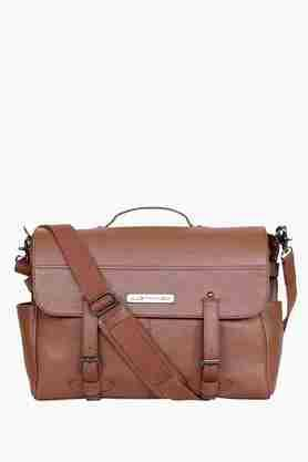 Mens Buckle Closure Messenger Bag