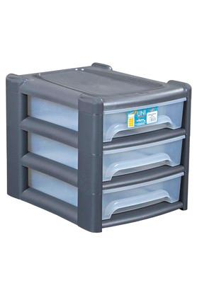 Plastic Drawer with 3 Segments