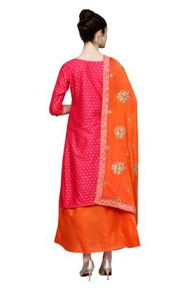 Womens Solid Embroidered Unstitched Salwar Suit Dress Material with Dupatta