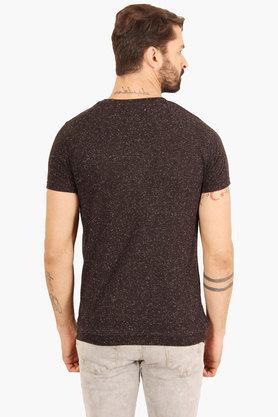 Mens Round Neck Slim Fit Printed T-Shirt