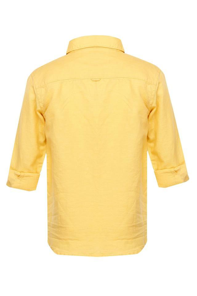 Boys Collared Solid Shirt