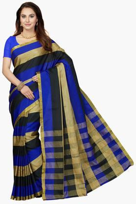 ISHINWomens Bhagalpuri Silk Zari Work Saree