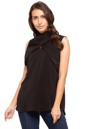 Womens Cowl Neck Solid Top