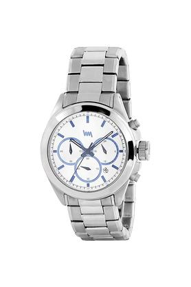Mens Silver Dial Stainless Steel Chronograph Watch - LWM134E