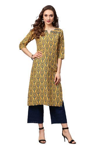 JUNIPER -  MustardSalwar & Churidar Suits - Main