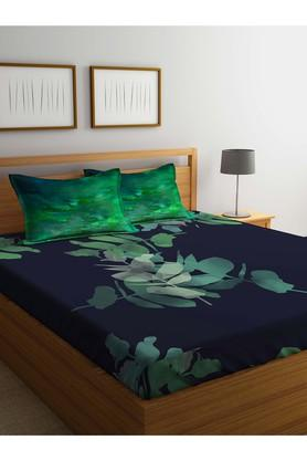 PORTICO Printed Double Bed Sheet With Pillow Cover - 203990124_9900