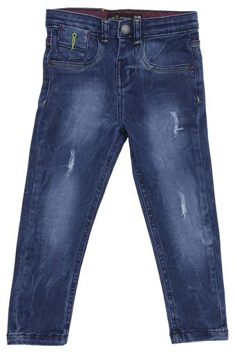 Boys Slim Fit Distressed Jeans