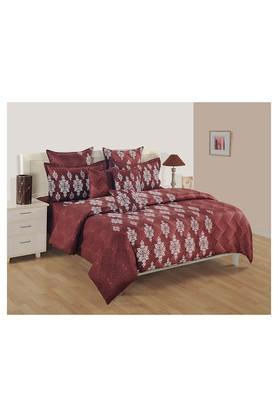 SWAYAMPrinted Double Bed Sheet, Comforter And Pillow Covers Set - 204584165_9126