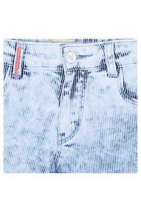 Girls 5 Pocket Striped Shorts