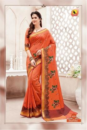 ASHIKAWomens Printed Saree With Blouse Piece - 204577035_9508