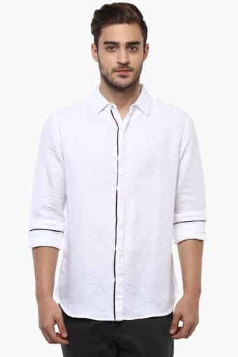 Mens Self Pattern Casual Shirt