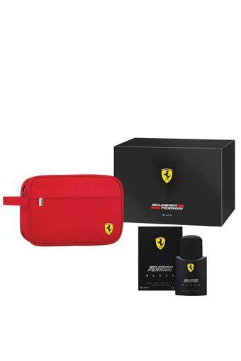 Buy Ferrari Mens Black Eau De Toilette And Travel Pouch Set